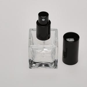 1.7 oz (50ml) Vee Clear Glass Bottle with Fine Mist Spray Pumps