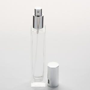 Frosted Cylinder 3.4 oz (100ml) Glass Bottle with Spray Pumps or Screw-on Caps