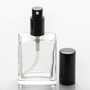 2 oz (60ml) Square Clear Bottle with Treatment Pump
