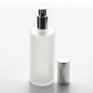 Frosted Cylinder 4 oz (120ml) Glass Bottle with Fine Mist Spray Pumps