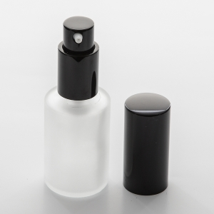 1 oz (30ml) Frosted Cylinder Glass Bottle with Treatment Pumps
