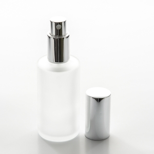 2 oz (60ml) Frosted Cylinder Glass Bottle with Fine Mist Spray Pumps