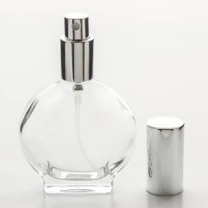 1.7 oz (50ml) Watch Shaped Glass Bottle with  Spray Pumps or Screw-on Caps