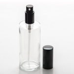 Clear Cylinder 4 oz (120ml) Glass Bottle with Treatment Pump