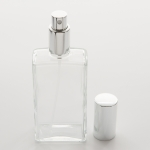 3.4 oz (100ml) Slim Rectangular Clear Glass Spray Bottle with Fine Mist Spray Pumps