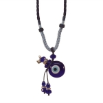 Evil Eye Perfume Bottle on a Rope Necklace