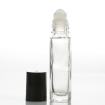 Roll-On (1/3 oz) 10ml Cylinder Bottle Clear Glass