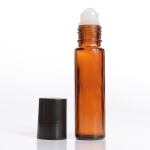 Roll-On (1/3 oz) 10ml Cylinder Bottle Amber Glass