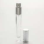 1/3 oz (10ml) Deluxe Round Clear Glass Bottle with Heavy Base (Fine Mist Spray Pumps)