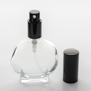 1.7 oz (50ml) Watch-Shaped Clear Glass Bottle with Treatment Pumps