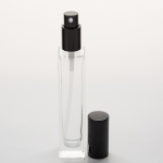 1.7 oz (50ml) Deluxe-Sharp Square Clear Glass Bottle (Heavy Base Bottom) with Treatment Pumps