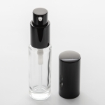 1/2 oz (15ml) Cylinder Bottle Clear Glass with Treatment Pumps