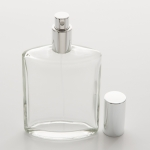 3.4 oz (100ml) Elegant  Eye-Shaped Clear Glass Bottle with Fine Mist Spray Pumps