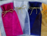 Mesh  Gift Bags (Assorted  Colors)-(12 pcs)
