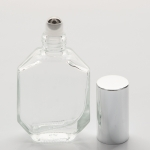 Elegant Roll-on Bottle 1/2 oz (15ml) Clear Glass with Gold Cap