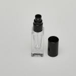 5ml (1/6 oz) Clear Glass Deluxe Square Bottle (Heavy Base Bottom) with Fine Mist Spray Pumps