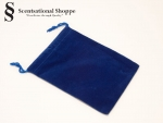 "Blue Satin  Satchel Bags-approx.4 x 5 1/2""  with  draw strings."
