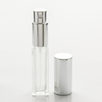 Tall Square 1/4 oz (7.5ml) Clear Glass Fine Mist Spray Pumps