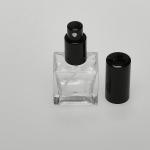 1/2 oz (15ml) Square Flint Glass Bottle (Heavy Base Bottom) with Fine Mist Spray Pumps